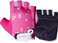 Велорукавички PowerPlay 5451 рожево-білі
