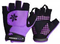 Велорукавички 5284 фиолетовые
