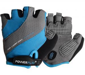 Велорукавички PowerPlay 5023  блакитні