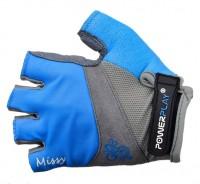 Велоперчатки летние 5277B (голубые)