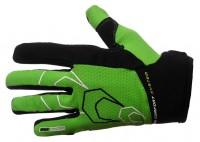 Велоперчатки демисезонные 6556-А (черно-зеленые)
