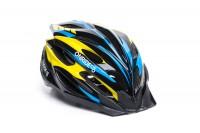 Шлем OnRide Grip глянцевый черный/желтый/голубой