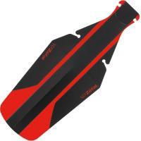 Крыло Zefal Shield Lite XL пластиковое заднее 24g, под седло, красно-черное