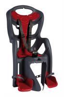 Сидіння задн. Bellelli Pepe Standart Multifix до 22кг, сіре з червоною підкладкою