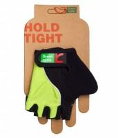 Перчатки детские Green Cycle NC-2530-2015 Kids без пальцев черно-зеленые
