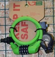 Кодовый замок Green Cycle GCL-А600 в силиконовой обойме с тросом 10х150cm