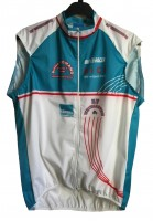 Мембранный жилет BioRacer Cycling бело-голубой-красный