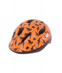 Шлем детский Green Cycle Dino оранжевый\чёрный лак