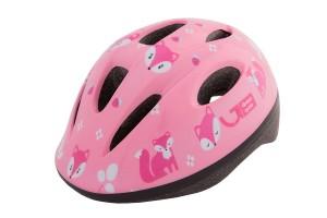 Шлем детский Green Cycle Foxy розовый/малиновый/белый лак