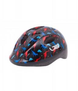 Шлем детский Green Cycle Dino черный\красный\синий лак