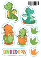 Светоотражающие наклейки ONRIDE Динозаврики