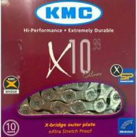 Цепь KMC X10 EPT, 10ск, 114 звеньев + замок