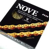 Цепь TAYA Nove-91-Ti-Gold, 9ск, 116зв