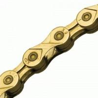 Ланцюг KMC X9L Gold Ti-N, 9шв, 116 ланок