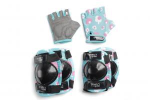 Захист для дітей Green Cycle MIA наколінники, налокітники, рукавички, бірюзовий
