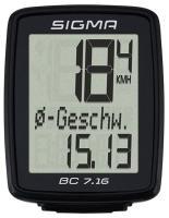 Велокомп'ютер Sigma Sport BC 7.16 black