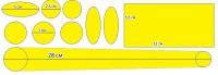 Набор защиты рамы Green Cycle CPG-501 бесцветный самоклеющийся
