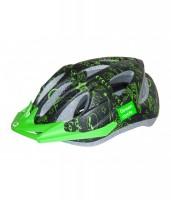 Шолом дитячий Green Cycle FAST FIVE чорно-зелений