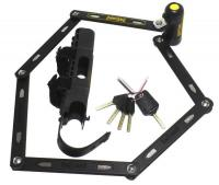 Замок складной Onguard REVOLVER Link Plate X4P 112см, 4 ключа + 1 с подсветкой